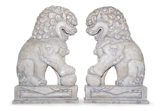 A PAIR OF FOO-DOGS DESIGNED FOR THE THE 2011 ACADEMY AWARDS.
