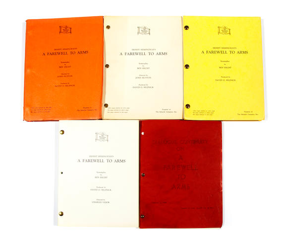 A large collection of film scripts