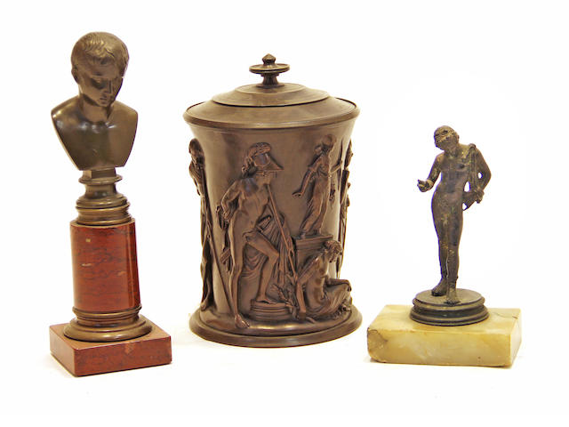Three Grand Tour patinated bronzes second half 19th century