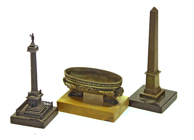 Three Grand Tour bronze souvenirs late 19th century