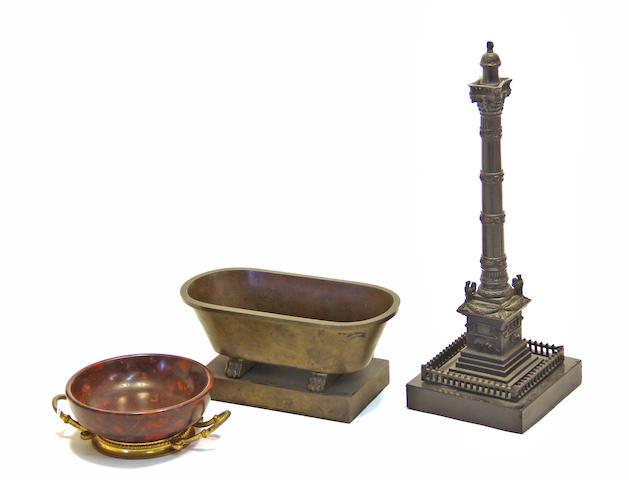 Three Grand Tour bronze souvenirs late 19th century