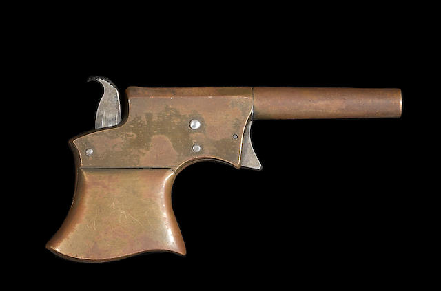 A rare experimental all-brass Remington Vest Pocket derringer