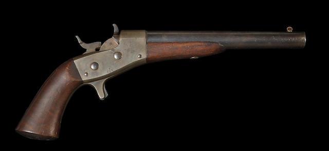 A U.S. Remington Model 1865 Navy rolling block pistol