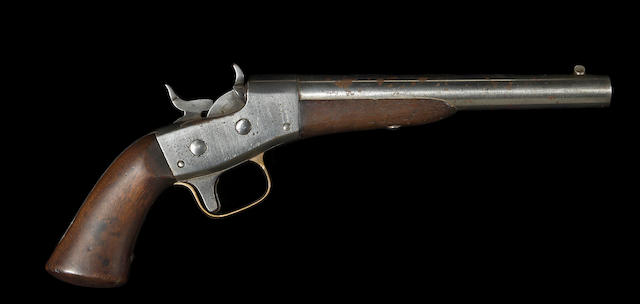 A U.S. Remington Model 1865 Navy rolling block pistol