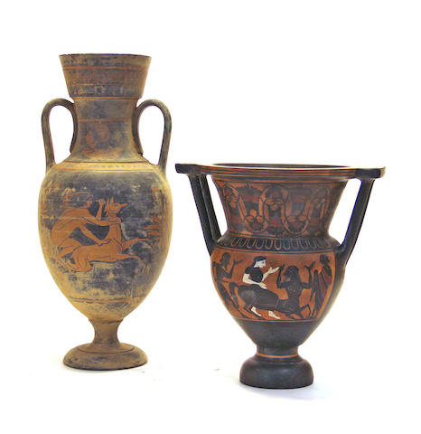 Two Grand Tour red figure vessels 20th century