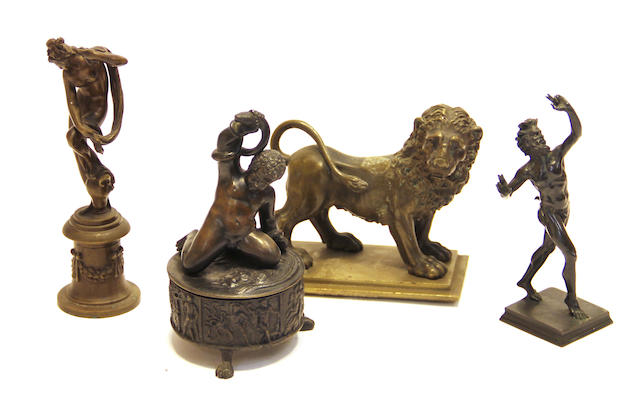 A group of four Grand Tour  bronzes 19th century