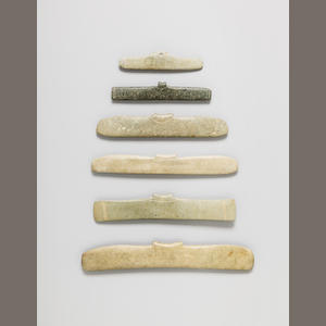 Group of Six Tairona Pendants,. ca. 1000 - 1500