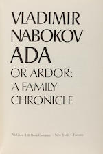 NABOKOV, VLADIMIR. 1899-1977. Ada, or Ardor: a Family Chronicle.  New York: McGraw-Hill, [1969].