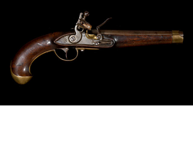 A scarce Imperial Russian Model 1798 flintlock martial pistol