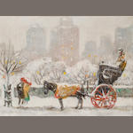 Guy Wiggins, Along 59th Street in Winter