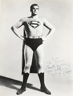 A George Reeves pair of signed photographs