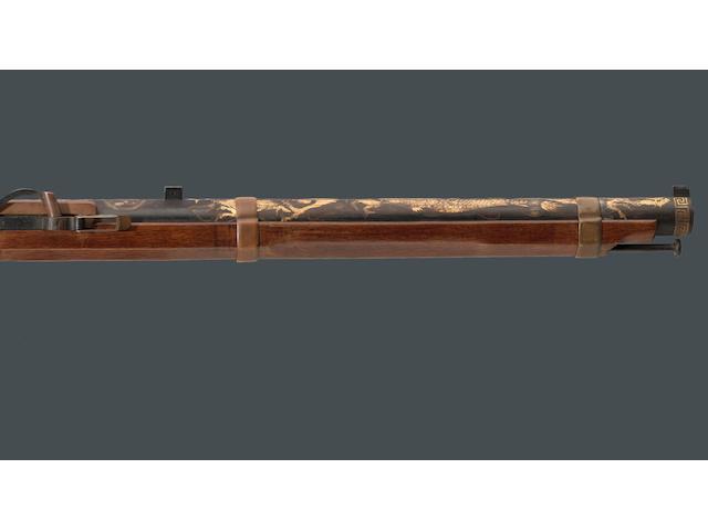 A fine Japanese matchlock carbine