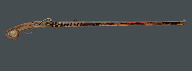 A highly decorated Japanese matchlock rifle