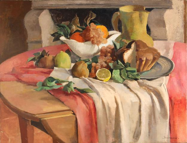 Jean Joveneau, Still life with friut and brioche
