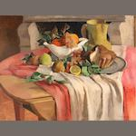 Jean Joveneau, Still life with friut and brioche
