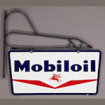 A double sided NOS Mobiloil sign,