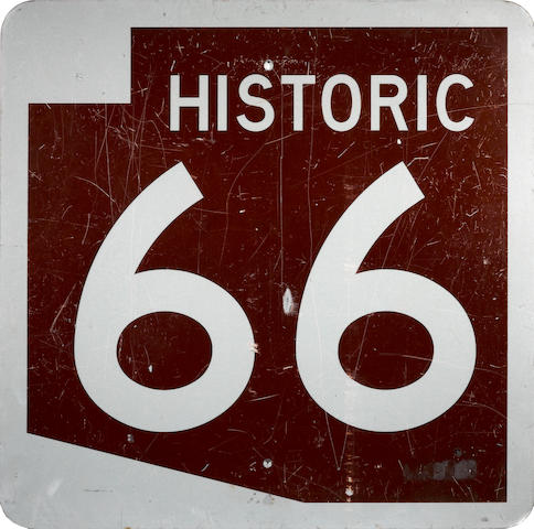A Missouri Historic route 66 sign,