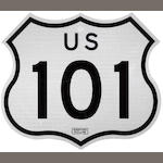 A US Interstate 101 sign,