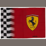A signed Ferrari flag,
