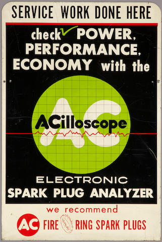 A double sided ACilloscope sign,