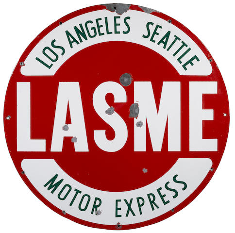 A Los Angeles Seattle Motor Express sign,