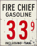 A double sided Texaco Fire Chief gas price sign, c. 1950s,