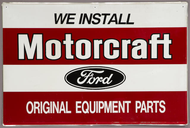 A Ford Motorcraft sign,