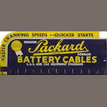 A Packard Cables display sign, c. 1940s,