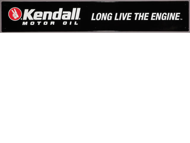 "A NOS Kendall ""Long Live The Engine"" sign,"
