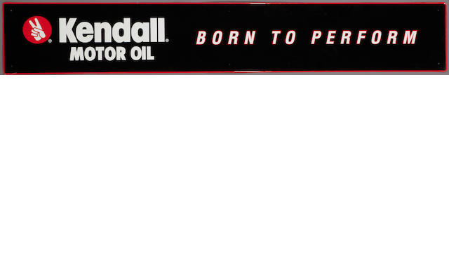 "A NOS Kendall ""Born To Perform"" sign,"