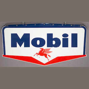 A large double sided Mobil station sign, 1959,
