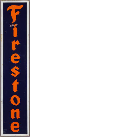 A Firestone Tires sign, c.1920s,