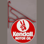 A double sided Kendall Motor Oil sign, c. 1960s,