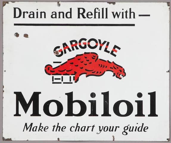A Mobiloil Gargoil sign, c. 1920s,