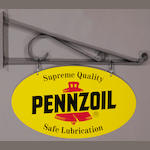 A Pennzoil Supreme Quality sign,