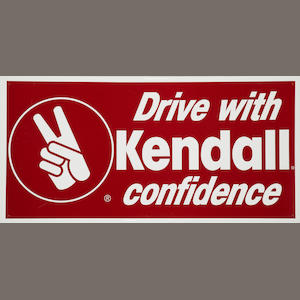 A Kendall Drive With Confidence sign, c. 1960s,