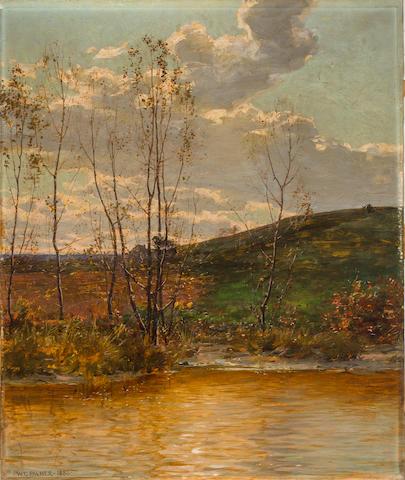 Walter Launt Palmer (American, 1854-1932) Spring landscape 27 x 22 1/2in