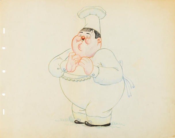 A collection of seven drawings of movie stars for Mother Goose Goes to Hollywood