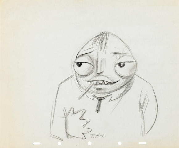 A collection of eleven drawings of movie stars from Coo-Coonut Grove and Mother Goose Goes to Hollywood