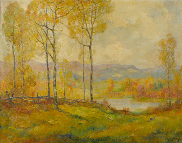 Guy Carleton Wiggins (American, 1883-1962) On New England Hills 28 x 36in