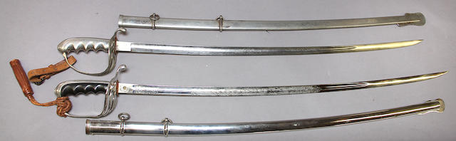 A lot of two U.S. Model 1902 sabers for all officers