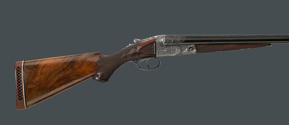 A rare 12 gauge A-1 Special Parker Brothers boxlock shotgun two barrel set