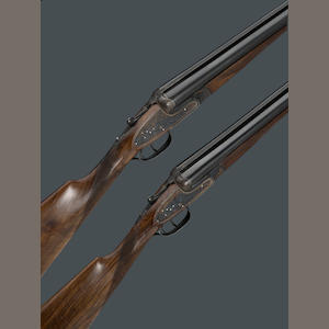 A pair of 12 gauge sidelock ejector guns by Pedro Arrizabalaga