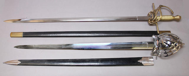 A lot of two reproduction swords