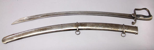 A British Pattern 1796 light cavalry saber