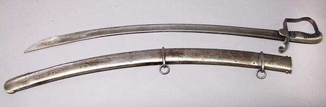 A British Pattern 1796 light cavalry saber