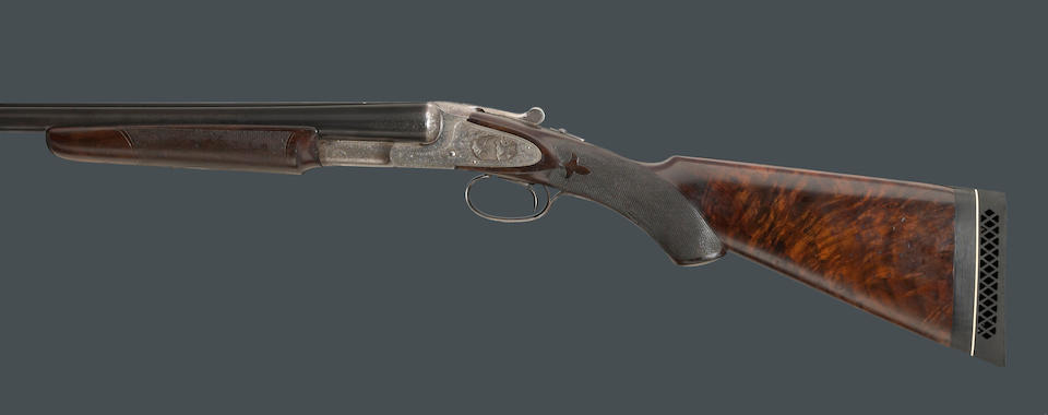 A 12 gauge Hunter Arms L.C. Smith Monogram Grade sidelock ejector shotgun with hang tag and factory letter
