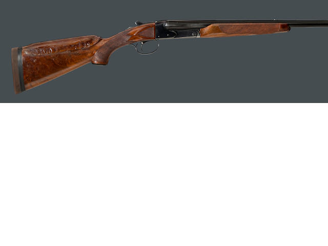 A 20 gauge Winchester Model 21 boxlock trap shotgun