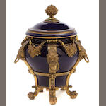 A French gilt bronze mounted covered vase