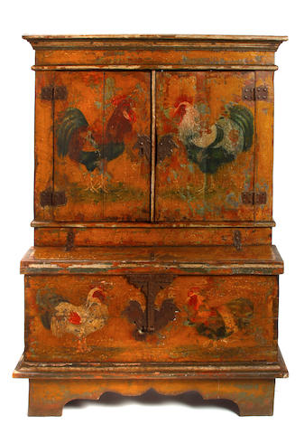 A Baroque style paint decorated dresser